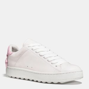 New Coach C101 Low Top Woven Stitch Sneakers